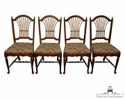 Set Of 4 Pennsylvania House Country French Wheat / Sheaf Back Dining Side Cha...