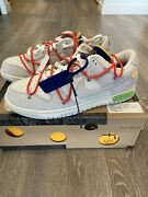 Off-white Nike Dunk Andldquothe 50andrdquo - Lot 13- Size 10.5 - Habanero Red