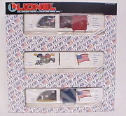 Lionel 6-19599 Old Glory Series Set Of 3 Boxcars/box