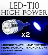 X2 Pairs T10 Color Blue Led High Power License Plates Plug And Play Lights H95