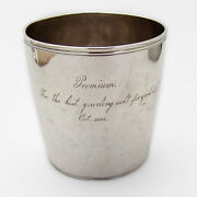 Mint Julep Cup Trophy Coin Silver Mono Wa 1829