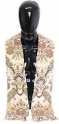 Dolce And Gabbana Scarf Menand039s Beige Silk Jacquard Shoulder Priest Stole Rrp 550