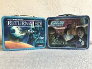 2 Vintage 1980s Star Wars Lunch Boxes - Return Of The Jedi -empire Strikes Back