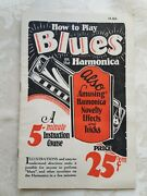 Vintage How To Play Blues On Harmonica Exc+++ 1928 Tricks Tips Instruction