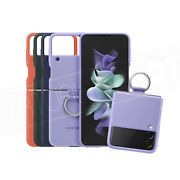 Samsung Official Silicone Case With Ring For Galaxy Z Flip 3 Soft Touch New