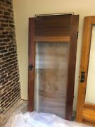 4x Beautiful Antique Office Doors With Glass Panel