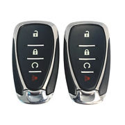2 New Replacement Keyless Remote Key Fobs 4 Button Rs For Chevrolet Hyq4aa