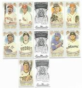 Lot 13 2021 Topps Allen And Ginter Mini No Number Parallel Cards 50 Copies
