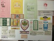 26+old Cosmetic Beauty Antique Medicine Bottle Labels=lotions=real Nice Lot==
