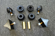 For Mopars.cuda, Challenger, Charger, Bump Stop Kit With Stut Rod Bushings.