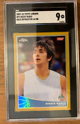2009-10 Ricky Rubio Topps Chrome Gold Refractors /50 Rookie Rc Sgc 9 Mint