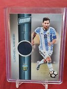 Lionel Messi Argentina Psg Panini Day 2017 Player Worn Jersey Card