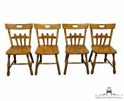 Set Of 4 Willett Furniture Solid Maple Colonial Style Dining Side Chairs 206