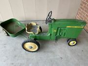 Vintage Ertl John Deere 20 Pedal Tractor D 65 With Wagon Pickup Only