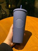 New Starbucks 2020 Singapore Matte Navy Blue Studded 24oz Cold Water Cup Tumbler
