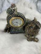 Jay Strongwater Cat And Mouse Clock Tower Crystals