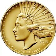 1 Oz American Liberty 2019 Gold Coin High Relief New