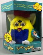 1999 Tiger Electronics Furby Baby Model 70-940 Yellow, Blue, Red New Sealed Box
