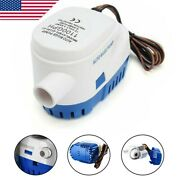 12v 1100gph Boat Marine Automatic Submersible Bilge Auto Water Pump Float Switch