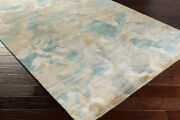 Abstract Area Rugs 90 Wool 10 Viscose Hand Knotted Medium Pile For Home Decor
