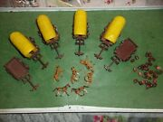 Marx Miniature Covered Wagon Attack Playset Lot