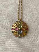 Stunning Polly Wales Ourika Yellow Gold And Rainbow Sapphire Necklace