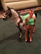 """Marx Johnny West-best Of The West- """"fighting Eagle""""and""""storm Cloud"""" Paint Horse"""