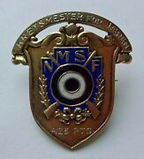 Shooting Norway 1932 Silver Badge Medal Abzeichen Pin