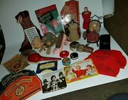 Antique Lot Of Pin Cushions, Tape Measures