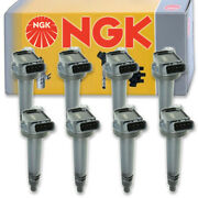 8 Pc Ngk Ignition Coils For 2010-2019 Lexus Gx460 4.6l V8 Spark Plug Wire Nm