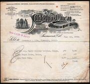 California Winery Sacramento 1908 Oldest Winery In State Letterhead History