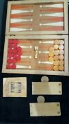 Vintage Crisloid 1.5 Bakelite Butterscotch Yellow And Red Backgammon Complete Set