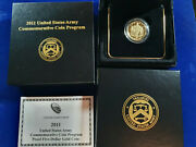🌟2011-w Us Gold 5 Army Commemorative Proof Coin In Us Ogp