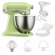 Kitchenaid Ksm3512fghw 3.5qt Stand Mixer Food Grinder Infusion Cover Special Set
