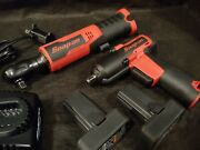 Snapon Tools 14.4v 3/8 Brushless Ratchet And 3/8 Impact Wrench Kit