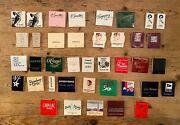 39 Vintage Matchbooks - Closed And Iconic Nyc Restaurants Bars - Most Unused