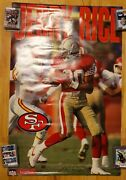 1993 Starline Team Players Jerry Rice Poster Pin-up 49ers 22 X 34 1/2