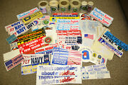 Huge 1970and039s Army Navy Marines Air Force Recruiter Bumper Sticker / Decal Lot