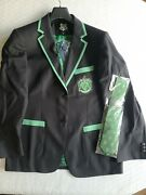 Harry Potter Slytherin Mens Blazer And Tie Size Xl Nwt Robe Factory