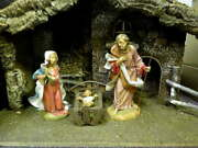 32 Pc Fontanini 12 Heirloom Nativity W/stable Holy Family Wise Men Camels Sheep