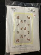 Something Special Cross Stitch Baby Afghan Antique Toys Duck, Bunny Sheep