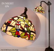 Style Floor Lamp Arched 64 Tall Stained Glass Living Room Bedroom Decor