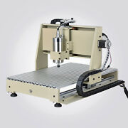 Usb Cnc 4 Axis 6040t Router Engraver Pcb Pvc Milling Driiling Machine 3d 1.5kw