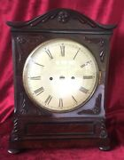 Top Quality English Double Fusee Bracket Clock In Mahogany Case