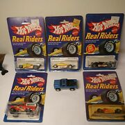 Vintage Hot Wheels Real Riders Lot Of 5 Mint On Original Card One Loose Nm 🕵️💥