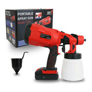 Cordless Paint Sprayer Electric Spray Gun Handheld W/ Battery For Fence Home Car
