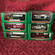 Set Of 6 Hess Mini Trucks 1998, 99, 00, 02, 03, And 11 Direct From Factory Case