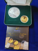 🌟2003 Age Of Discovery Captain Cook Gold/silver Proof Set 10 Grams .9999 Gold