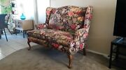Ethan Allen Vintage Loveseat Sofa Floral French Country Near Mint Fabulous