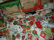Vintage Lot Of Christmas Stickers And Tags